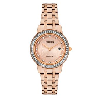 Citizen Ladies' Rose Gold Tone Steel Bracelet Watch - Product number 8063923