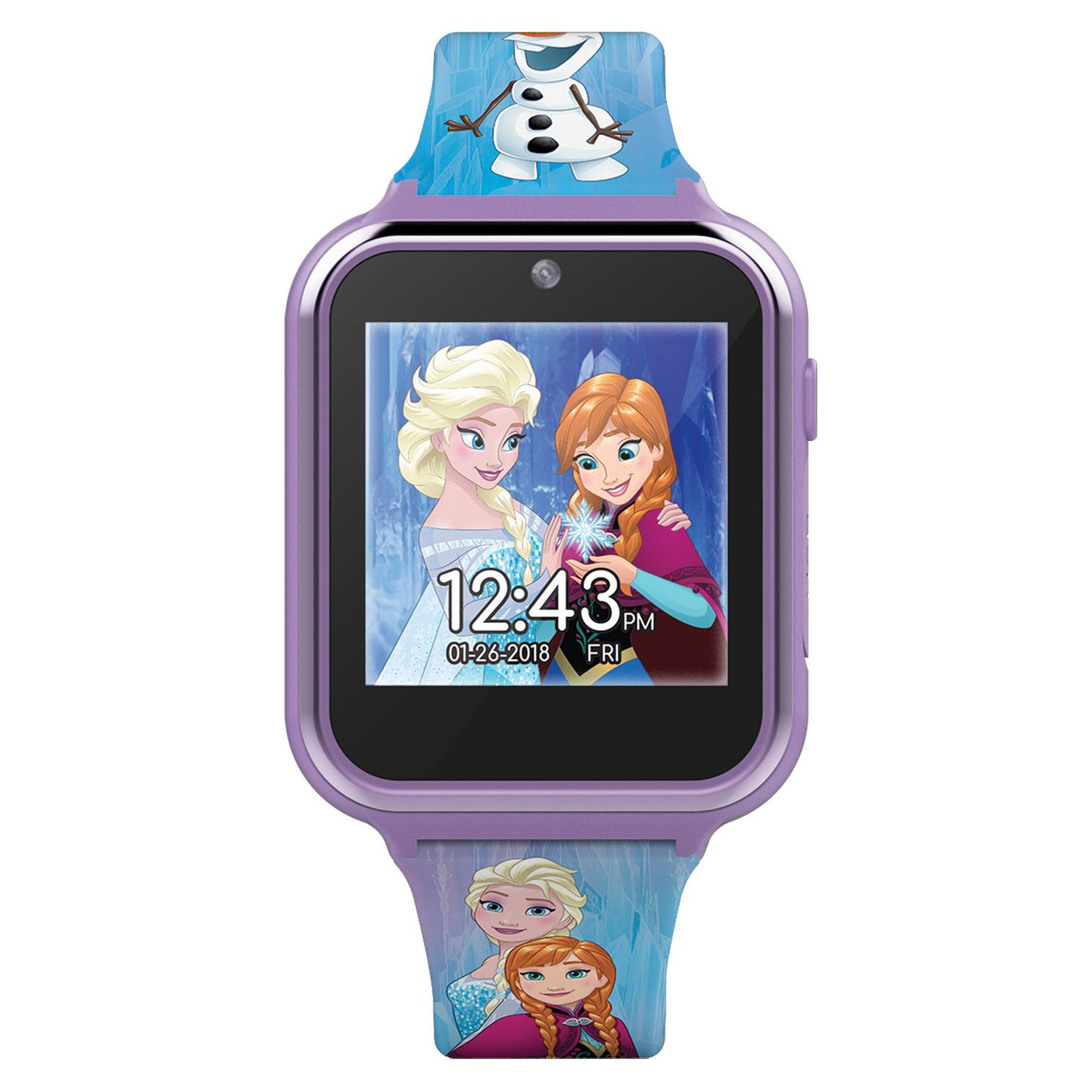 Disney Frozen Interactive Blue Silicone Strap Smartwatch - Product number 8067708
