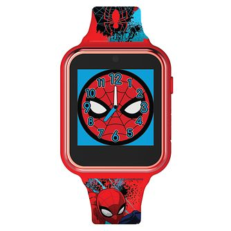 Disney Spiderman Interactive Red Silicone Strap Smartwatch - Product number 8068208