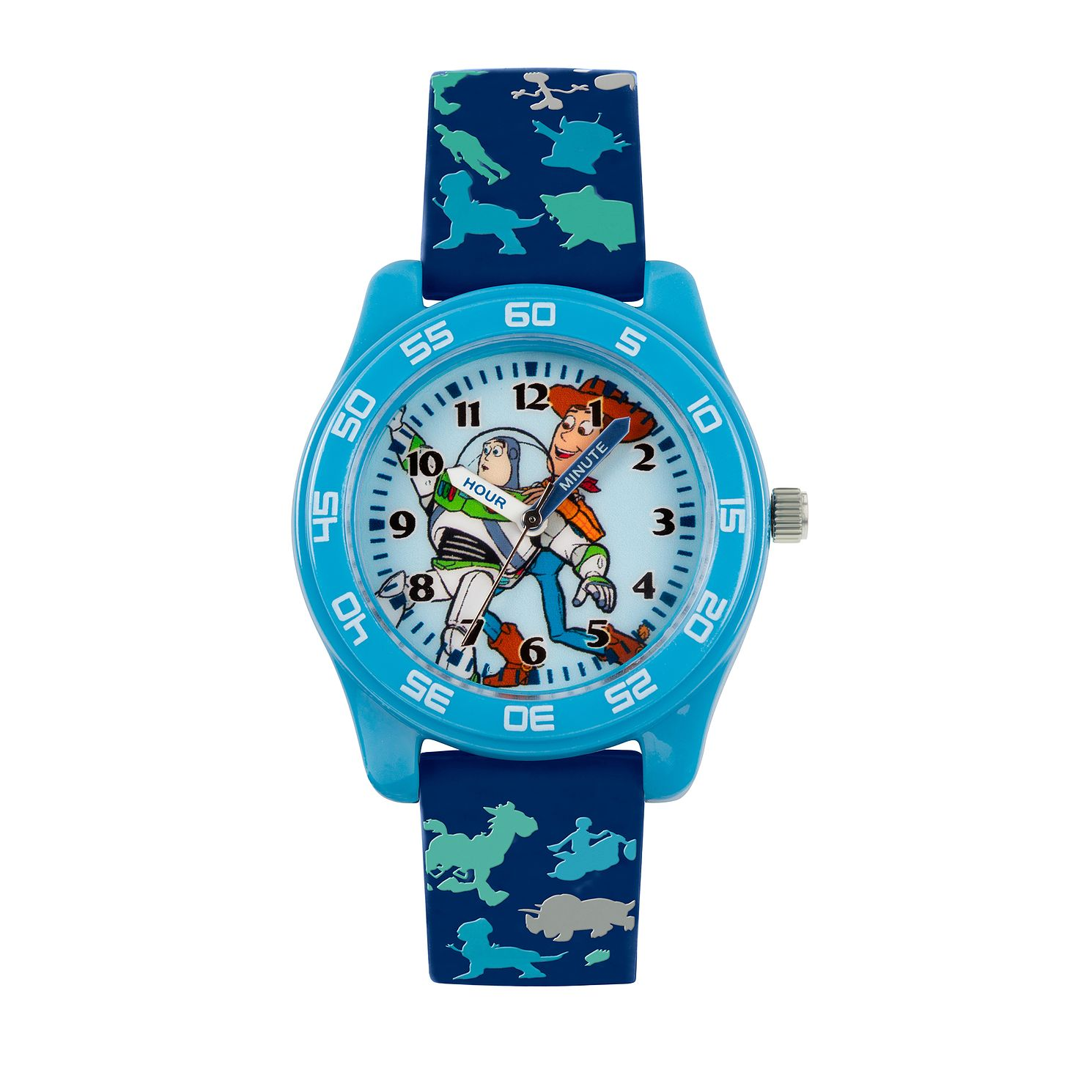 Disney Toy Story 4 Blue Patterned Strap Time Teacher Watch - Product number 8068216