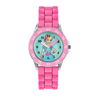 Disney Toy Story 4 Pink Silicone Strap Time Teacher Watch - Product number 8068275