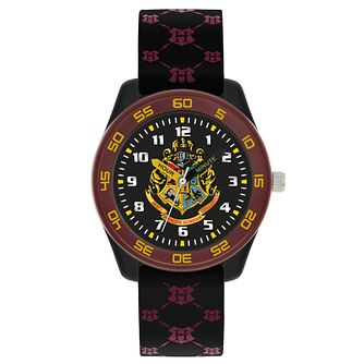 Harry Potter Hogwarts Houses Black Silicone Strap Watch - Product number 8068321