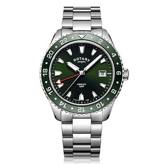 Rotary Henley Men's Stainless Steel Green Dial Watch - Product number 8070504