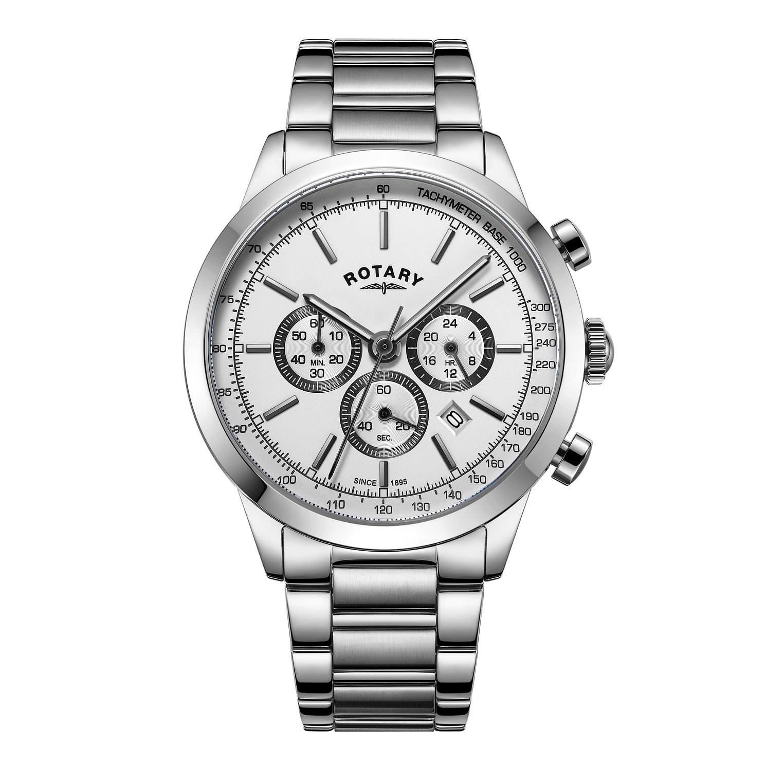 Rotary Cambridge Silver Men's Stainless Steel Bracelet Watch - Product number 8070563