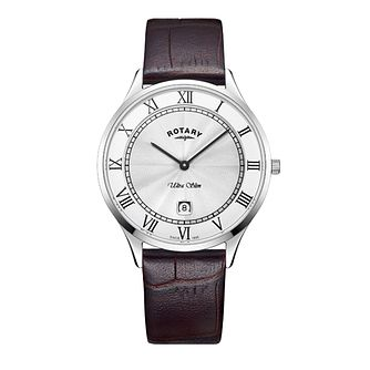 Rotary Ultraslim Men's Stainless Steel Strap Watch - Product number 8070598