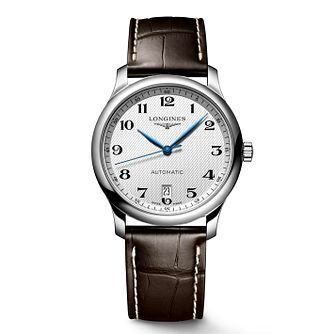 Longines Master Collection Men's Brown Leather Strap Watch - Product number 8070873