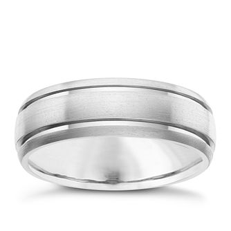 7MM Titanium Matt and Polished Groove Band - Product number 8073295