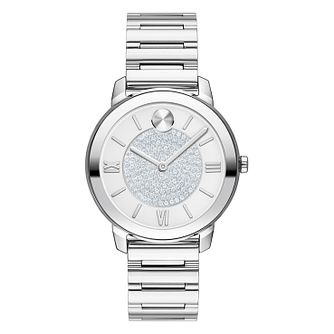 Movado BOLD Crystal Ladies' Stainless Steel Bracelet Watch - Product number 8075344
