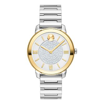 Movado BOLD Crystal Ladies' Two Tone Bracelet Watch - Product number 8075360