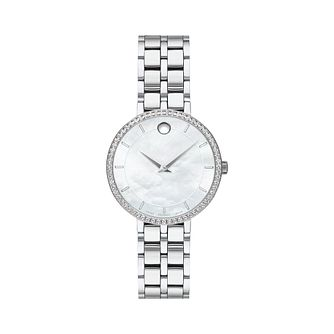 Movado Kora Diamond Ladies' Stainless Steel Bracelet Watch - Product number 8075379