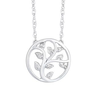 Sterling Silver Diamond Tree Pendant - Product number 8080127