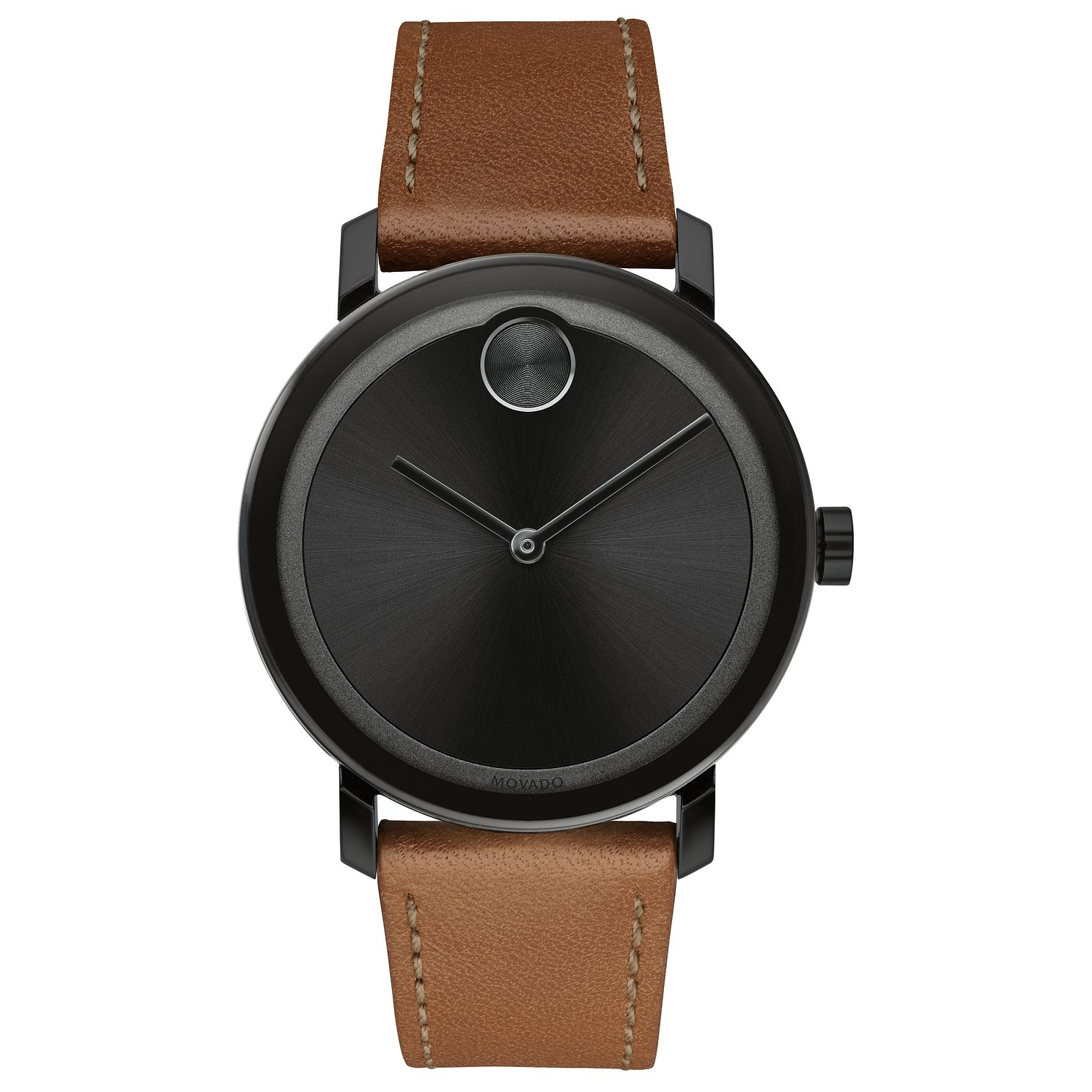 Movado BOLD Evolution Men's Brown Leather Strap Watch - Product number 8080321