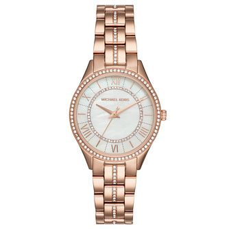 Michael Kors Lauryn Ladies' Rose Gold Tone Bracelet Watch - Product number 8080518