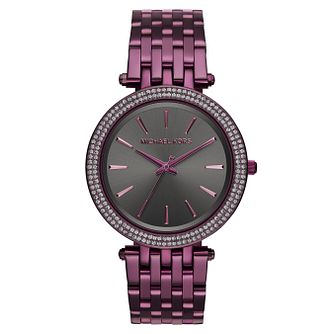 Michael Kors Darci Ion Plated Ladies' Plum Bracelet Watch - Product number 8080607