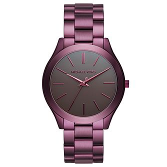 Michael Kors Slim Runway Ladies' Ion Plated Grey Watch - Product number 8080623
