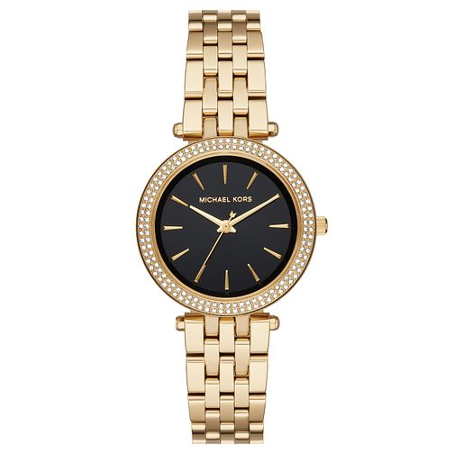 Michael Kors Darci Ladies' Yellow Gold Tone Stone Set Watch - Product number 8080682