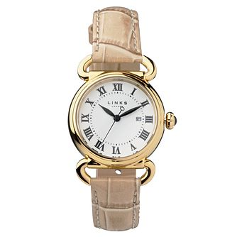 Links of London Driver Ladies' Yellow Gold Plated Watch - Product number 8080720