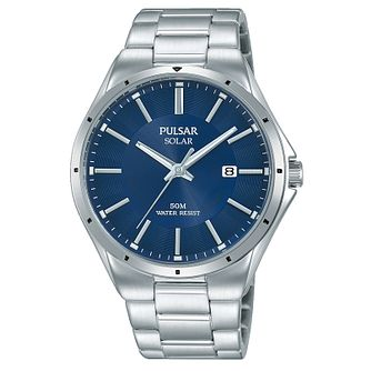 Pulsar Men's Solar Stainless Steel Bracelet Watch - Product number 8081638