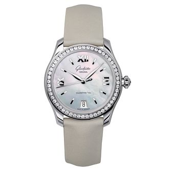 Glashutte Original Lady Serenade Ladies' Cream Strap Watch - Product number 8084300