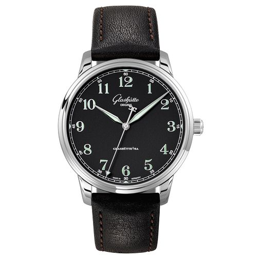 Glashutte Senator Men's Stainless Steel Black Strap Watch - Product number 8084386