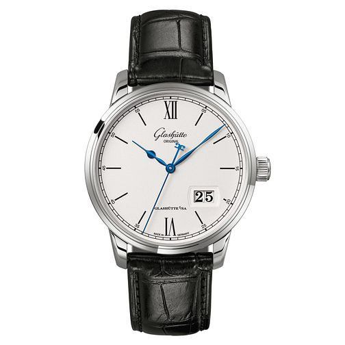 Glashutte Senator Men's Stainless Steel Black Strap Watch - Product number 8084394
