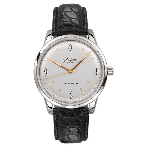 Glashutte Vintage Sixties Men's Black Strap Watch - Product number 8084475
