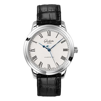 Glashutte Senator Men's Stainless Steel Black Strap Watch - Product number 8084491