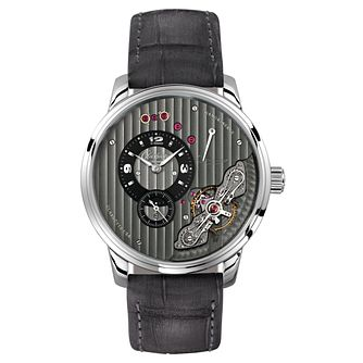 Glashutte Pano Men's Chronograph Skeleton Grey Strap Watch - Product number 8084548