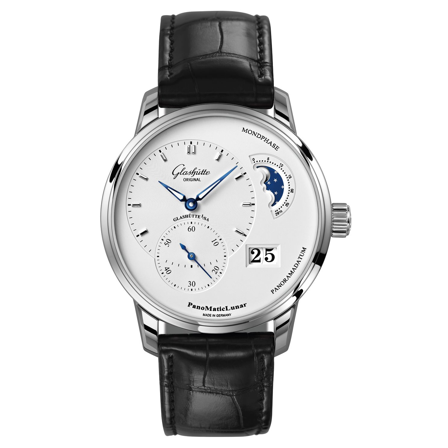 Glashutte Original PanoMaticLunar Men's Black Strap Watch - Product number 8084556