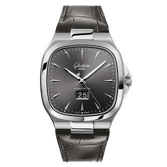 Glashutte Vintage Seventies Men's Square Black Strap Watch - Product number 8084629