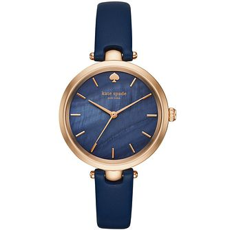 Kate Spade Holland Ladies' Blue Leather Strap Watch - Product number 8084866