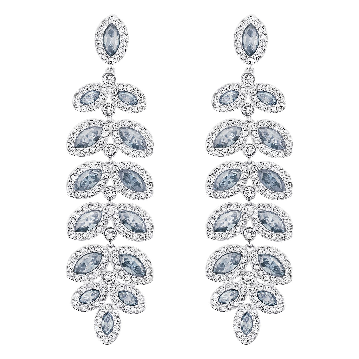 Swarovski Baron Rhodium Plated Drop Earrings - Product number 8085080