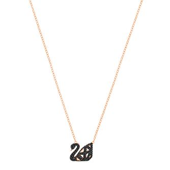 Swarovski Black Swan Rose Gold Plated Pendant - Product number 8085323