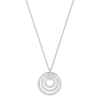 Swarovski Rhodium Plated Circle Pendant - Product number 8085358