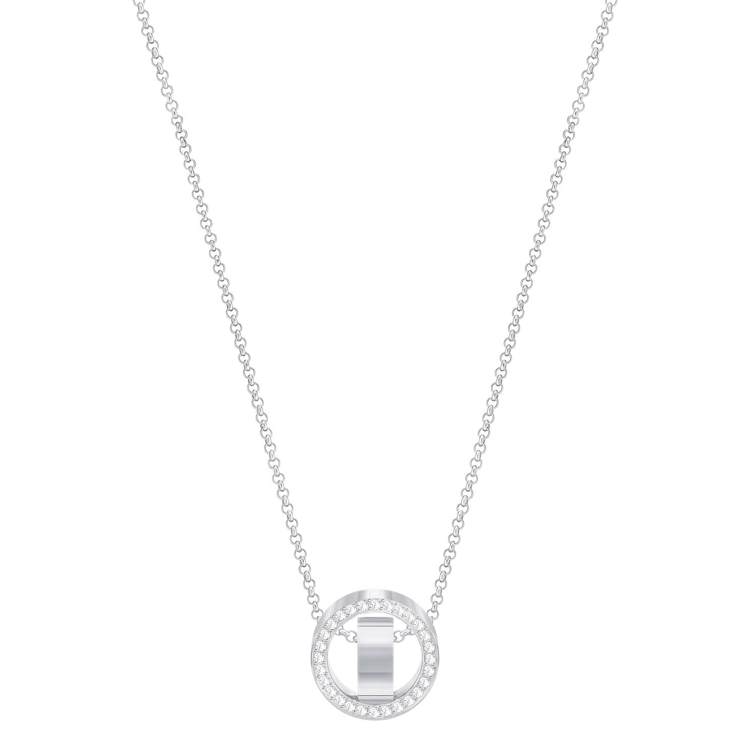 Swarovski Hollow Rhodium Plated Pendant - Product number 8085404