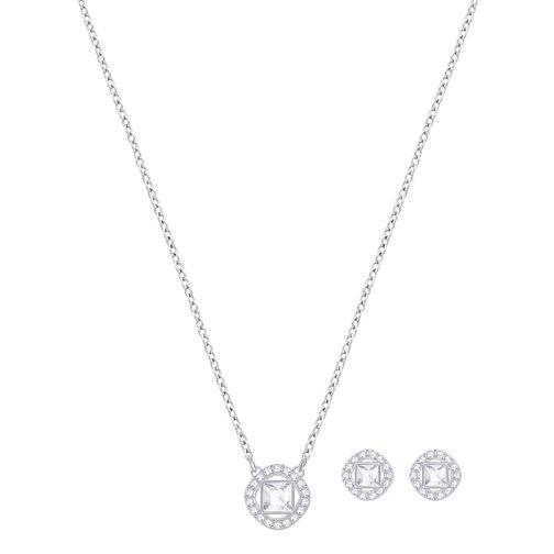 Swarovski Angelic Rhodium Plated Stud Earrings & Pendant Set - Product number 8085994