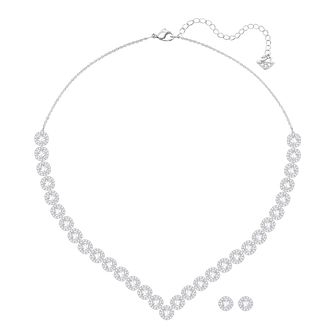 Swarovski Angelic Rhodium Plated Earrings & Necklace Set - Product number 8086001