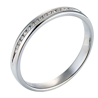 18ct White Gold Diamond Channel Set Ring - Product number 8086753