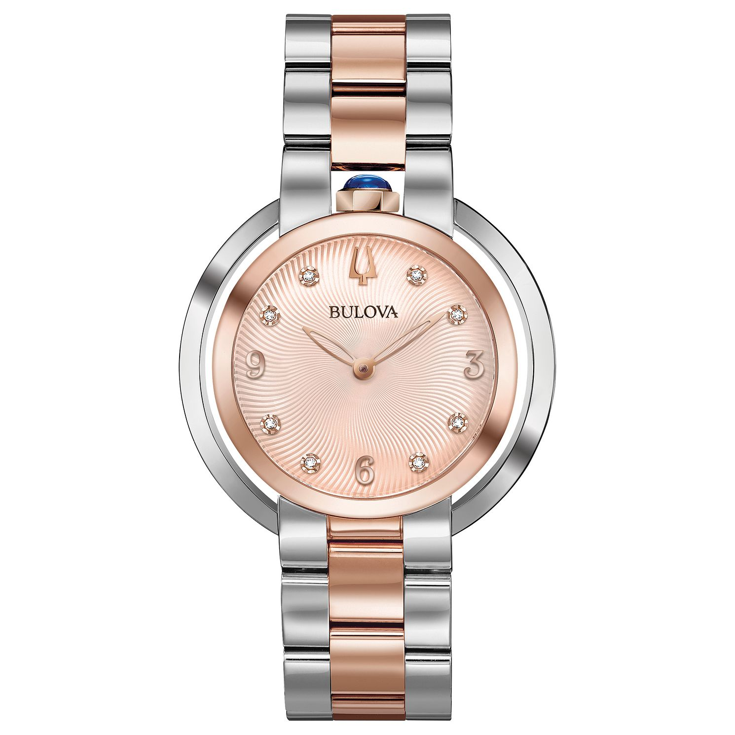 Bulova Ladies' Rubaiyat Rose Gold Tone Bracelet Watch - Product number 8087784
