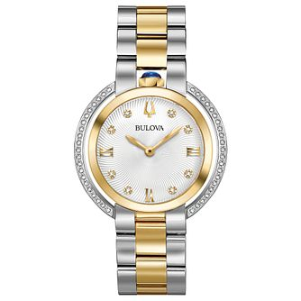 Bulova Ladies' Rubaiyat Yellow Gold Tone Bracelet Watch - Product number 8087792