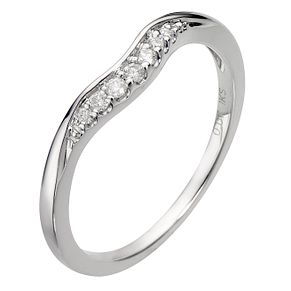 9ct White Gold U Shaped Diamond Ring - Product number 8090238