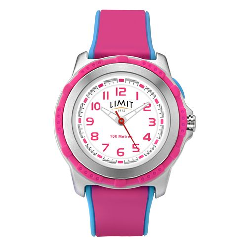 Limit Children's Pink & Blue Strap Watch - Product number 8093350