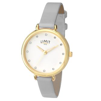 Limit Ladies' Grey Leather Strap Watch - Product number 8093369