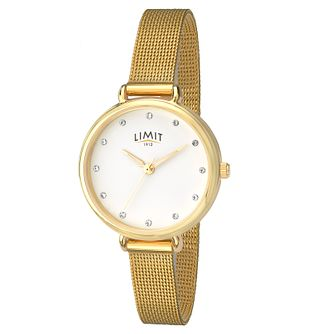 Limit Ladies' Gold Plated Mesh Bracelet Watch - Product number 8093385