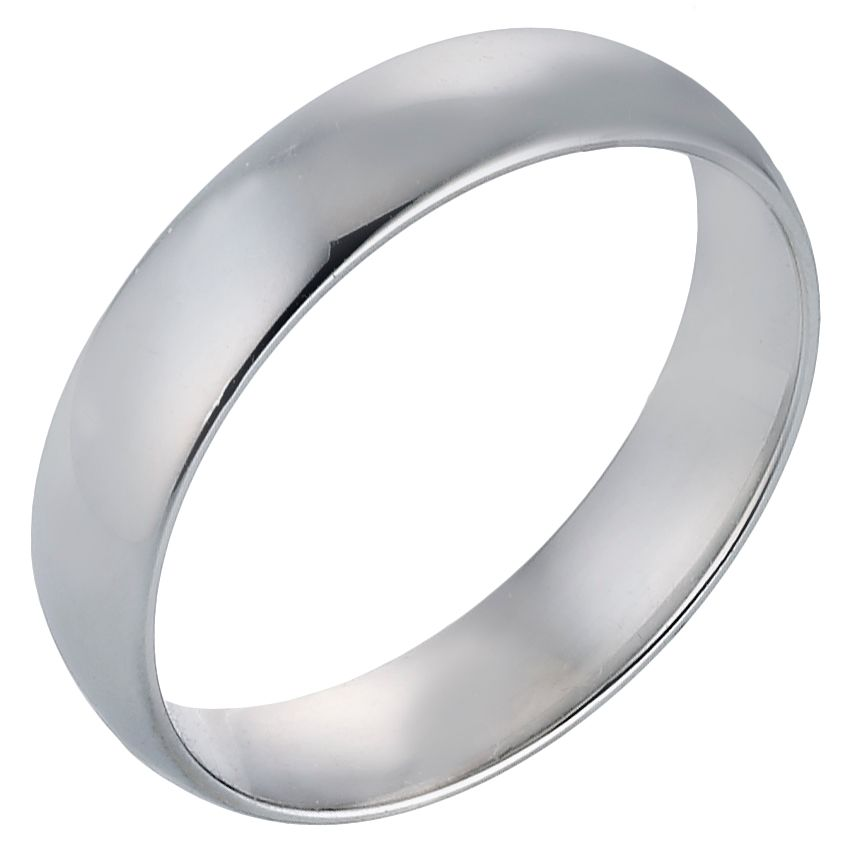 Platinum 5mm Extra Heavy Court Ring - Product number 8093415