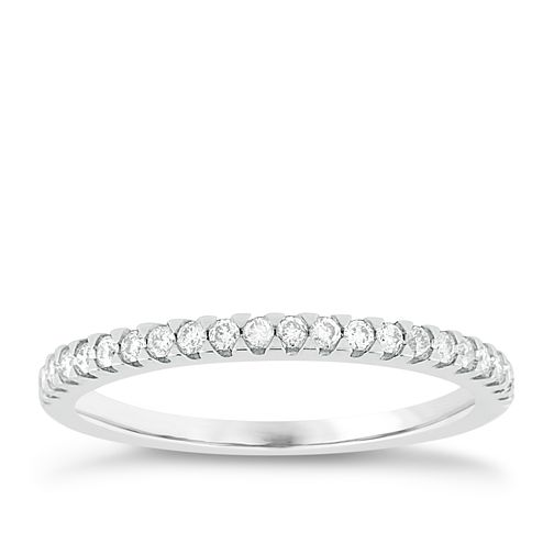 18ct White Gold 1/5ct Diamond Eternity Ring - Product number 8095876