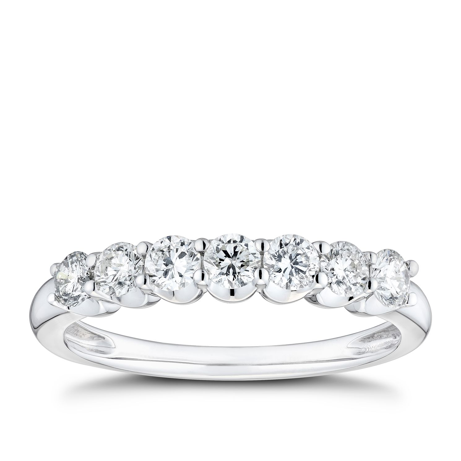 9ct White Gold 1/2ct Diamond Eternity Ring - Product number 8101442