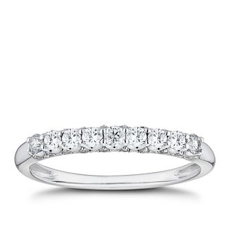9ct White Gold 0.33ct Diamond Eternity Ring - Product number 8101779