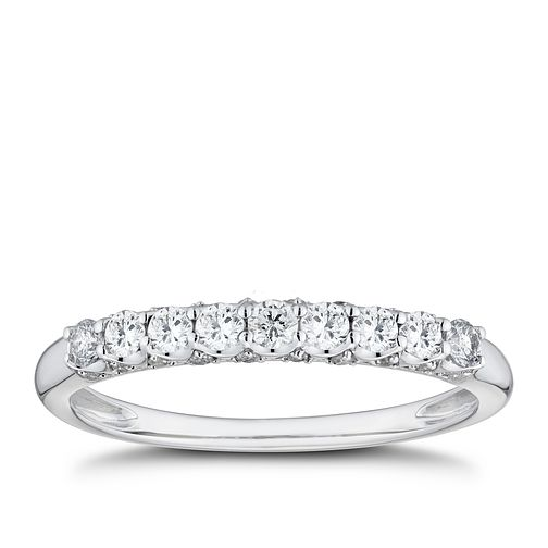 9ct White Gold 1/3ct Diamond Eternity Ring - Product number 8101779