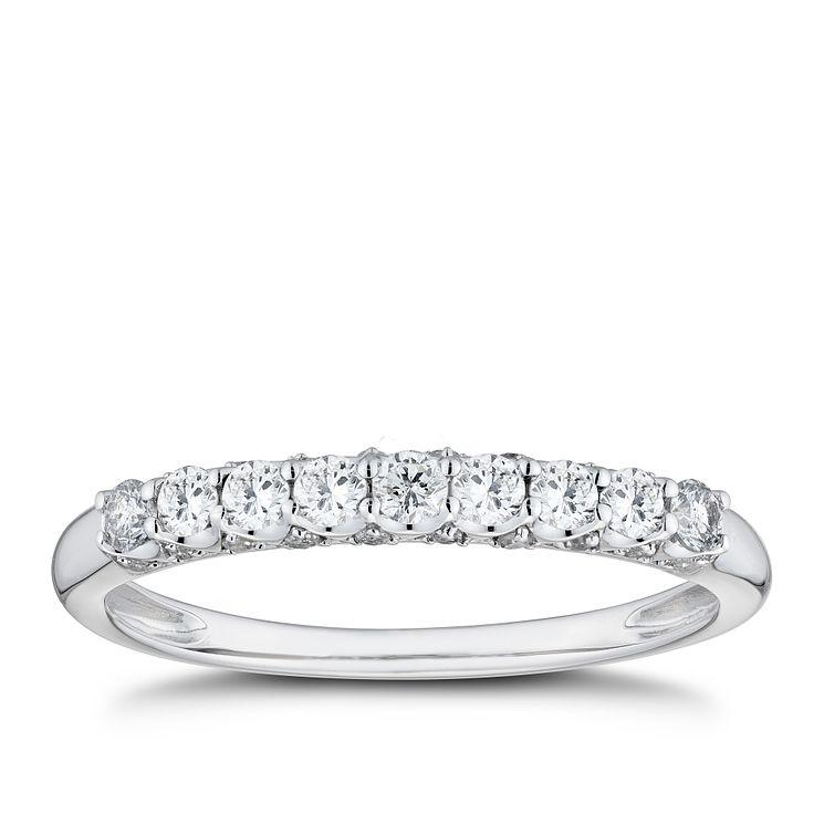 9ct White Gold 1 3ct Diamond Eternity Ring